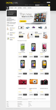 Template 4 online shop Digital store