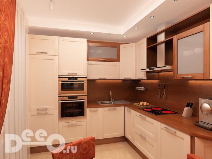 Визуализация кухни в Кузьминках